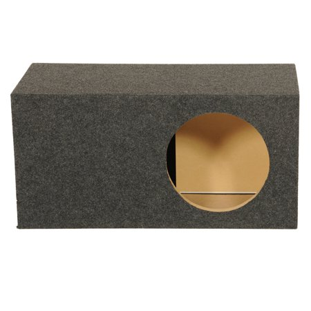 QPower Single 12 Inch SPL XL Heavy-Duty Side Ported Subwoofer Enclosure HD112VL (Spl 12 Subwoofer)