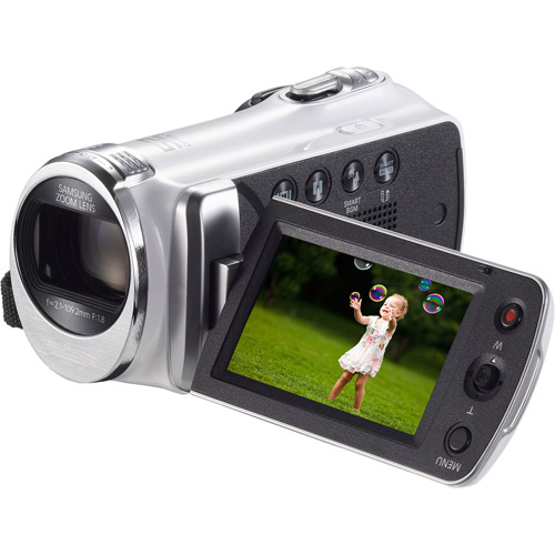 """Samsung HMX-F900 White DVR Camcorder with 52x Optical Zoom, 2.7"""" LCD and Image Stabilization"""