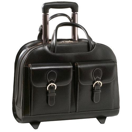 McKlein USA Davis Leather Laptop Briefcase