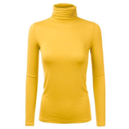 616c68592fa Doublju - Doublju Women s Rib Turtleneck Top Sweater Lightweight Long  Sleeve Pullover MUSTARD 2X Plus Size - Walmart.com