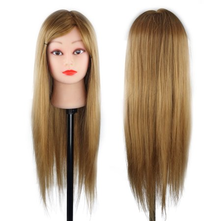 CoastaCloud Mannequin Practice head model Hair Cutting Mannikin With 30% Human Hair for Salon hairdresser makeup with 30%-80% human hair Clamp for Free