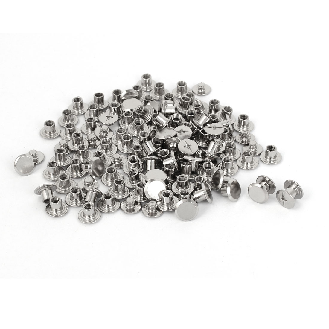 Uxcell M5x5mm Leather Albums Metal Nail Rivets Chicago Screws Binding Post (100-pack)