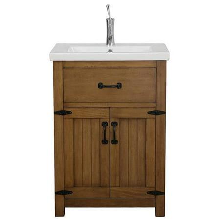 legion furniture 24 inch weathered light brown single sink bathroom