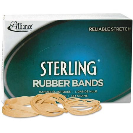 (3 Pack) Alliance Sterling Rubber Bands Rubber Bands, 8, 7/8 x 1/16, 7100 Bands/1lb Box -ALL24085