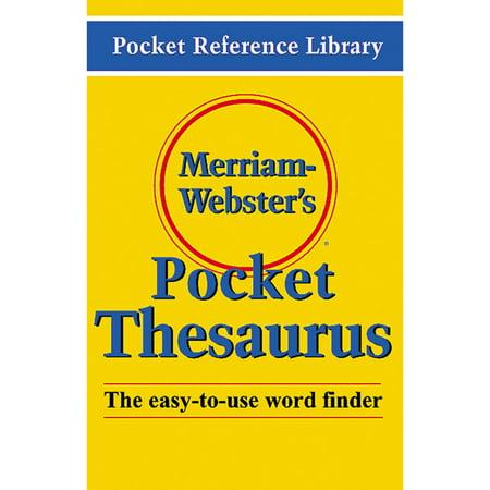 Merriam-Webster's Pocket Thesaurus - Walmart.com