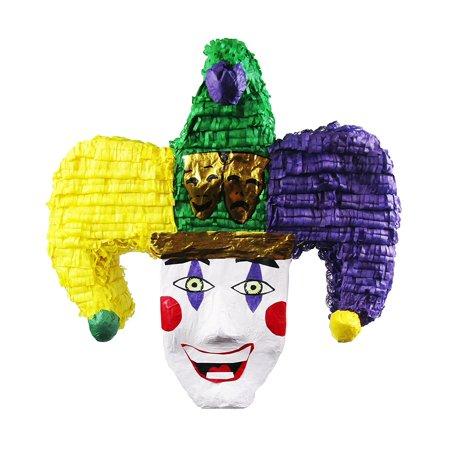 Pinatas Mardi Gras Joker Pinata, Carnival Party Game, Decoration and Photo Prop (Mardi Gras Props)