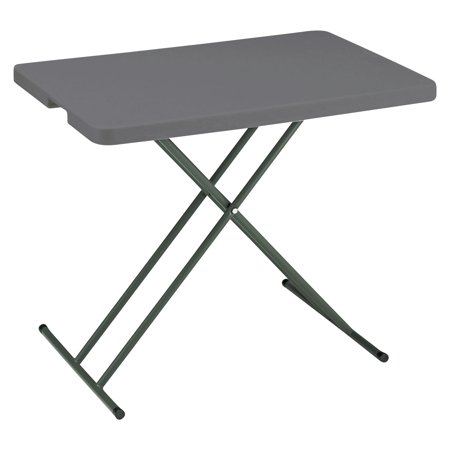 Iceberg Indestructables Too 1200 Series Resin Personal Folding Table  30 X 20  Charcoal