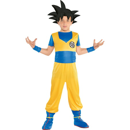 Dragon Ball Z Kai Goku Halloween Costume (Party City Dragon Ball Super Goku Costume for Children, Includes Jumpsuit, Headpiece, Wristbands, and)