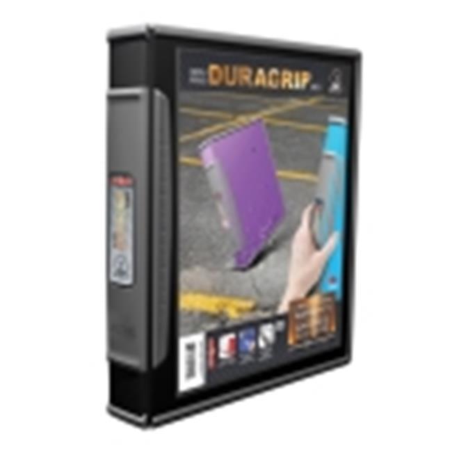 Storex Dura Grip Rubber Edge Heavy Duty D-Ring View Binder - 1 in. - Black & Dark Gray