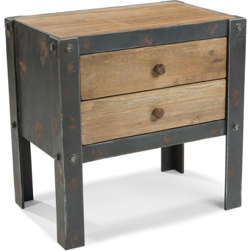 Aurelle Home Industrial 2-drawer Side Table