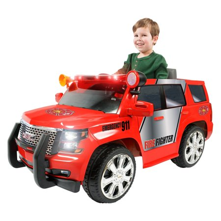 Rollplay GMC Yukon Denali Fire Rescue 6V Battery Powered Riding (Gmc Denali Trucks)