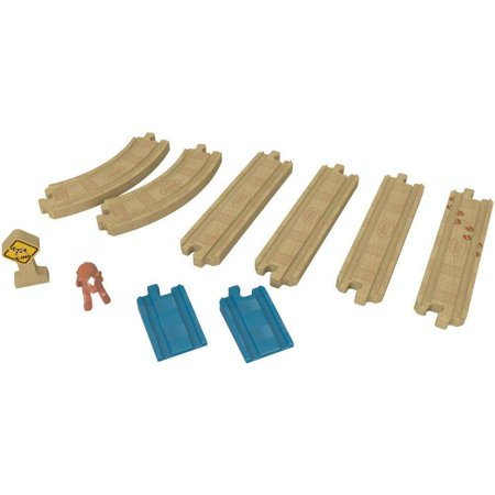 Thomas & Friends Wooden Railway - Straights and Curve Track (Thomas And Friends King Of The Railway)