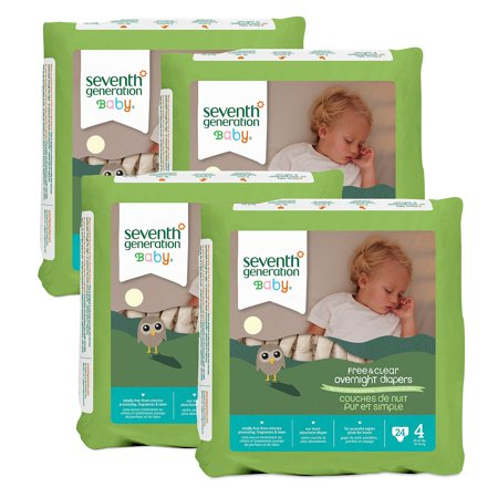 Seventh Generation Free & Clear Overnight Diapers - Diaper Size Stage 4 - 24 Ct. - (Comfortable & Soft Diaper at a Wholeprice) ()