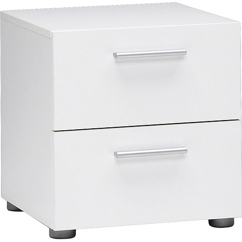 Loft Collection 2 Drawer Nightstand, White