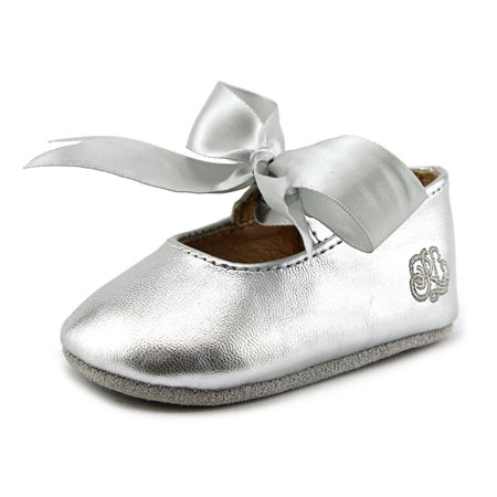 Ralph Lauren Layette Briley Infant  Round Toe Synthetic Silver Mary Janes