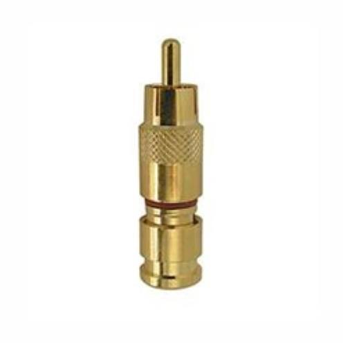 Gold RG6 Compression RCA Connector 5Pack