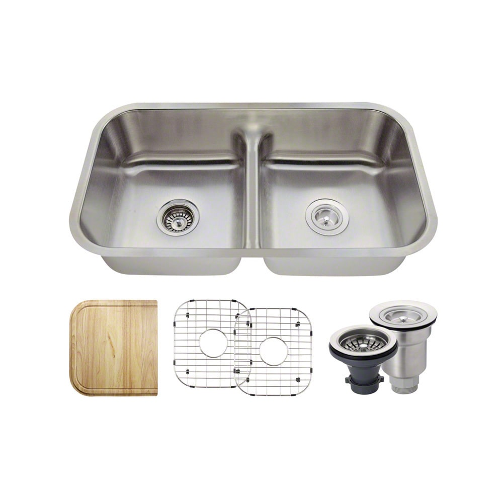 MR Direct  512 Half Divide Stainless Steel Kitchen Sink, ...