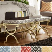 INSPIRE Q Kenza Moroccan Print Pattern Gold Plated Stool