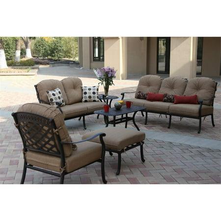 Darlee Sedona 6 Piece Patio Sofa Set With Seat And Back Cushion Walmart Com