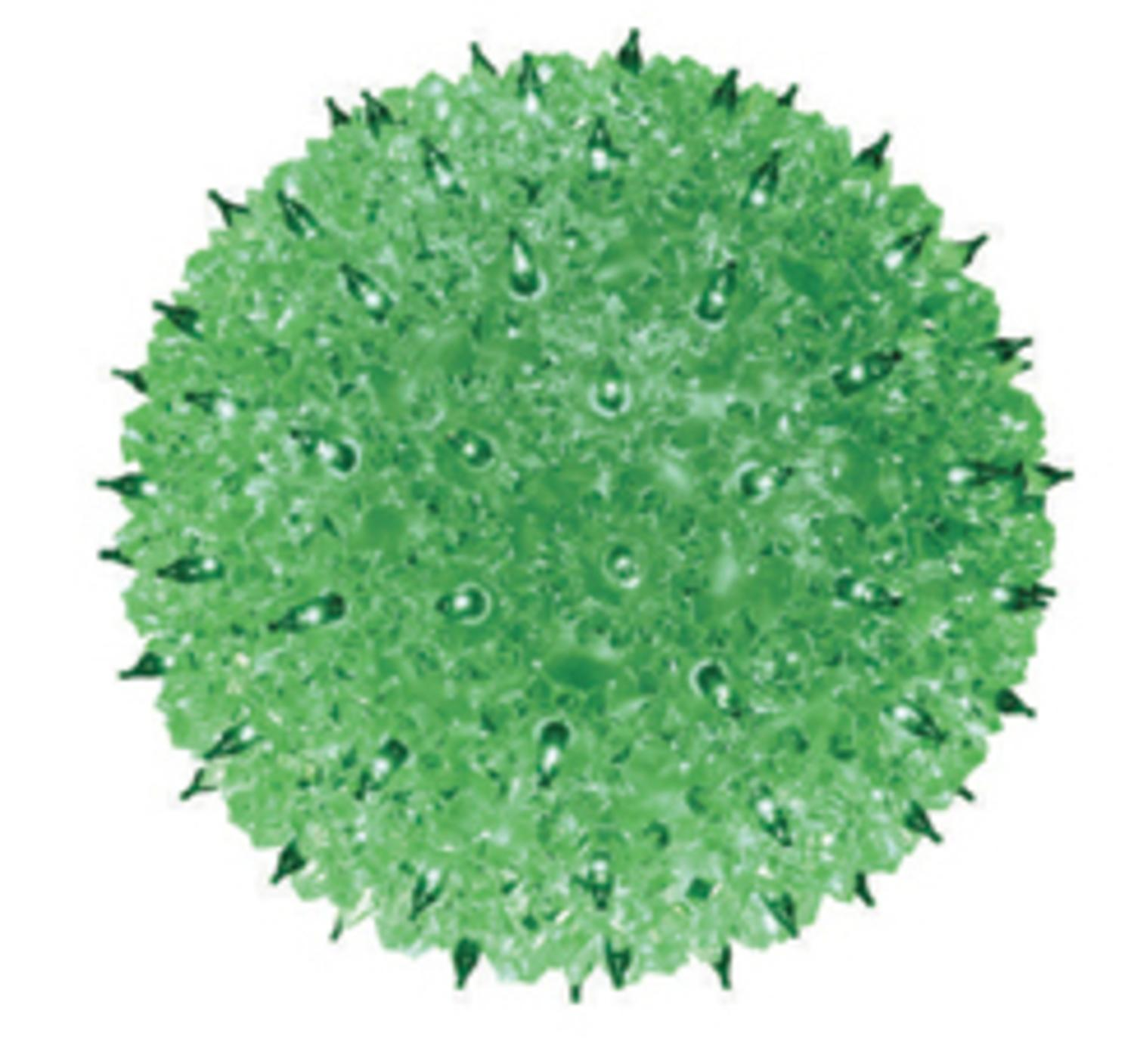 "Green Lighted Hanging Starlight Sphere Outdoor Christmas Decoration 10"" (250mm)"