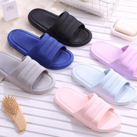 N297 Low Heels Slippers Summer Men Women Home Bathroom Non-slip Slippers - image 3 de 8