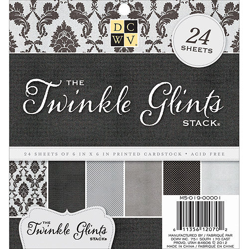 Diecuts With A View Twinkle Glints Paper Stack, 24pk