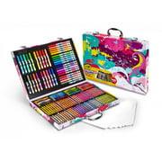 Crayola Inspiration Art Case, Pink, Art Supplies, Gift For Kids, 140 Pieces