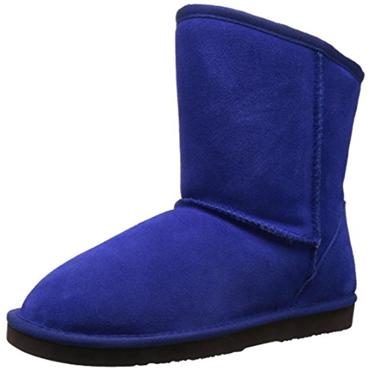 Dije California Womens SIERRA Suede Sheepskin Casual Boots