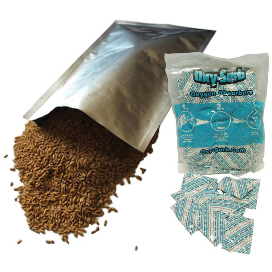 "Dry-Packs 60, 1 Gallon (10""x14"") Mylar Bags & 60, 300cc Oxygen Absorbers For Dried, Dehydrated and Long Term Food Storage, Food Survival"