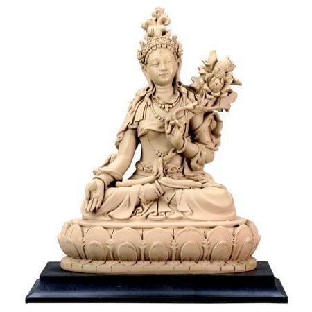 White Tara, Buddhist Goddess of Compassion and Longevity Statue, 5-3/4 Inch