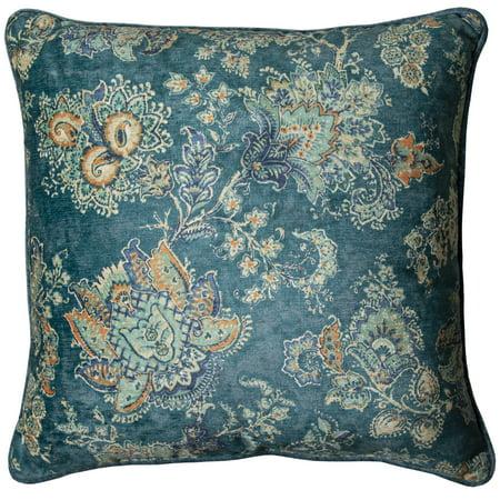 Print Decorative Throw Pillow - Better Homes & Gardens Printed Velvet Decorative Throw Pillow, 18