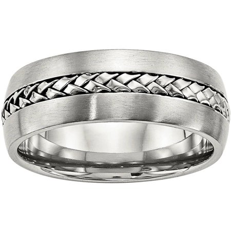 Stainless Steel Brushed and Polished Braided 8.00mm