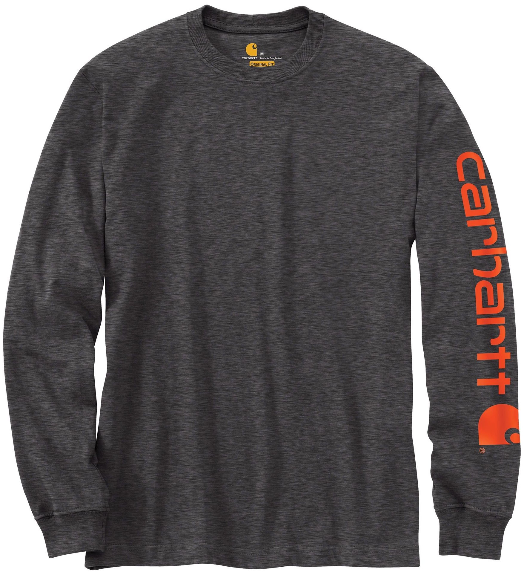 Carhartt Men's Graphic Logo Long Sleeve Shirt (Carbon Hea...