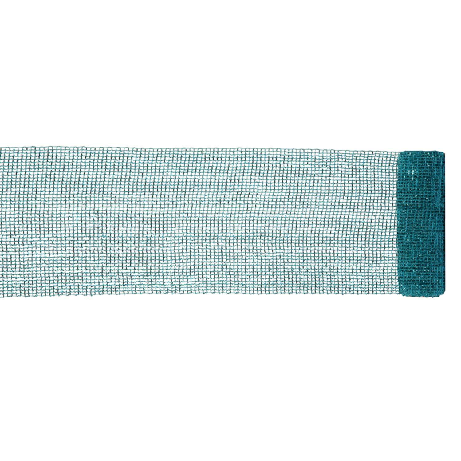 """Extra Wide Mesh Turquoise Blue Sparkle Tinsel Christmas Ribbon 6"""" x 4 Yards"""
