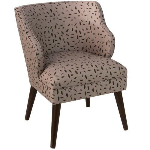 Ivy Bronx Palmer Modern Leo Dot Linen/Cotton Side Chair
