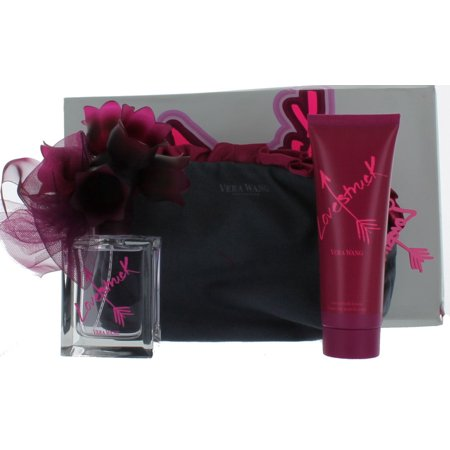 Lovestruck Vera Wang Gift Set 1.7 oz EDP, 2.5 oz Body Lotion with Bag for Women