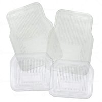 Zone Tech 4 Piece Clear Universal Fit  Full Rubber-All Weather Heavy Duty Vehicle Floor Mats