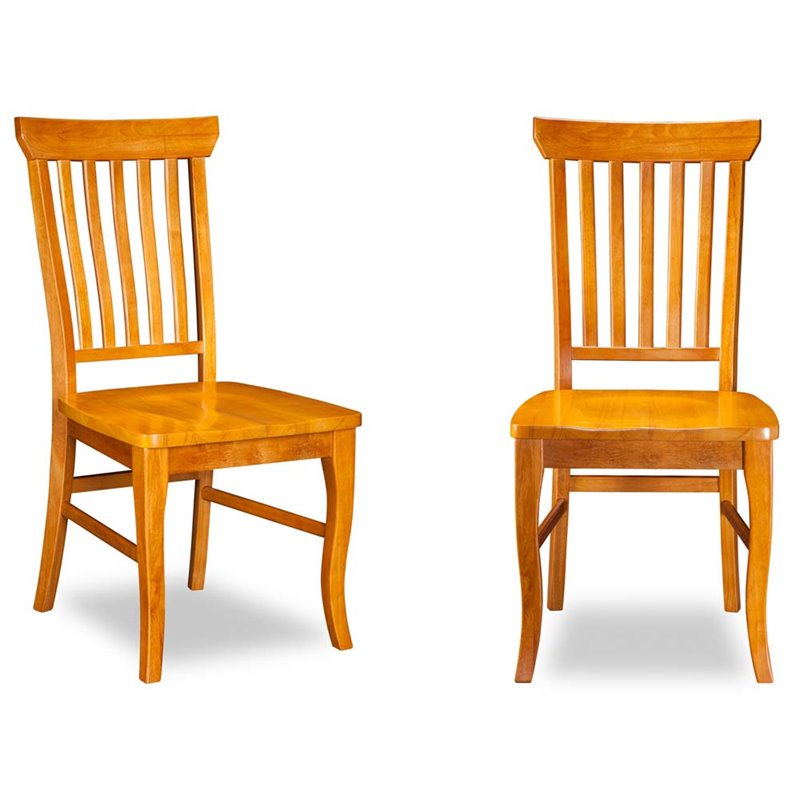 Atlantic Furniture Venetian Dining Chairs in Caramel Latte (Set of 2)
