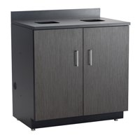 1704AN Classroom 114 Lbs Weight Capacity Asian Night Top & Doors Hospitality Base Black Cabinet With Waste Receptacle