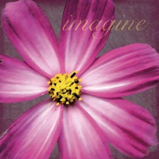 Imagine Flower Poster Print by Lauren Gibbons