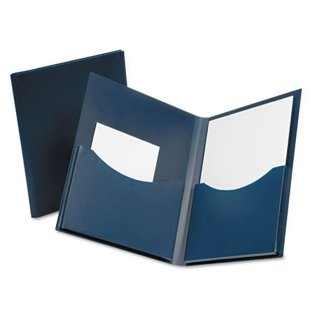 Esselte Blue Canvas Book (Esselte Oxford Poly Double Stuff Twin Pocket Folders )