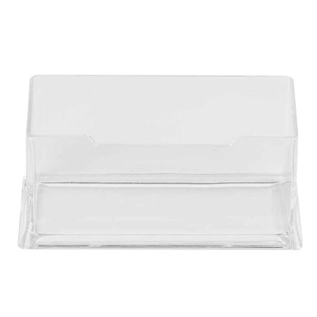 4PCS Clear Desktop Business Card Holder Display Stand Acrylic Plastic Desk Shelf - Acrylic Card Displays