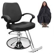 Bellavie Classic Hydraulic Barber Chair Salon Beauty Spa Hair Styling Black w/Barber Cape