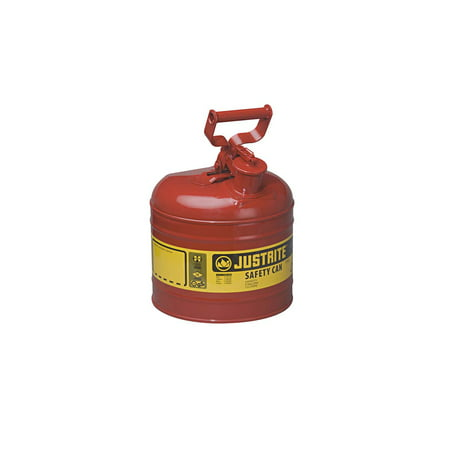 Justrite Laboratory Safety Cans - Justrite 2 Gal Safety Can Red