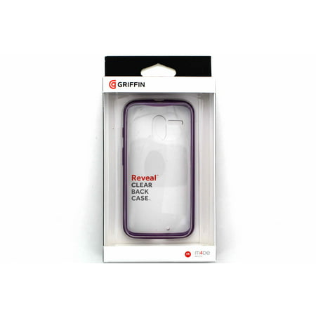 Griffin Reveal Case for Motorola Moto X - Clear/Purple - image 1 of 1