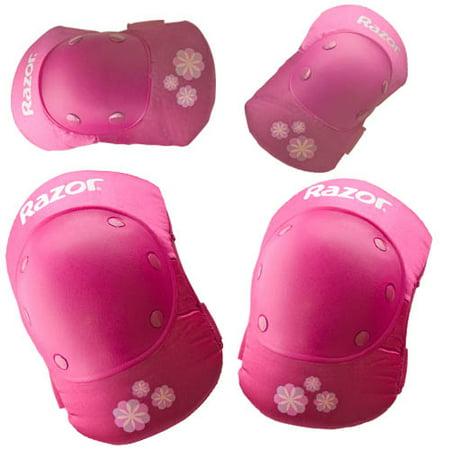 Razor Sweet Pea Multi-Sport Youth Pad Set, Pink