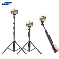 YUNTENG VCT-1388 Portable Selfie Stick Tripod Aluminum Alloy Max. Load 0.5kg with Phone Hoder Remote Control for iPhone 7 7plus Xiaomi Samsung Smartphones Action Cameras