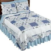 Hadley Floral Patchwork Reversible Lightweight Quilt Set