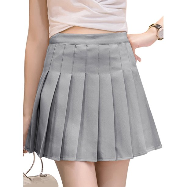 Mini skirts loose Amavo Fashion Mini Pleated Skirt Casual Loose Swing Skir Korean Style A Line Mini Skater Skirt High Waist Kawaii Skirt Walmart Com Walmart Com