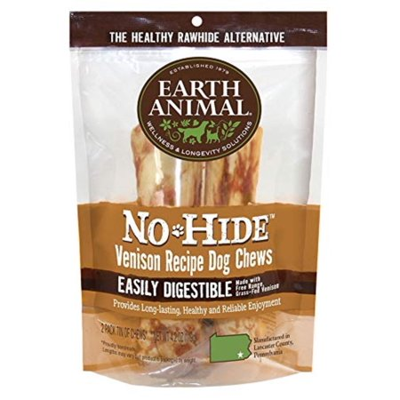 Earth Day Treats (No Hide Venison Recipe 2 Pack of Dog Chews, 7-Inch By Earth)